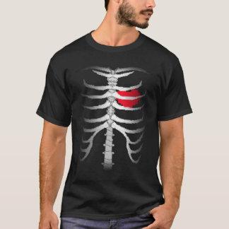 Camiseta T-shirt de esqueleto