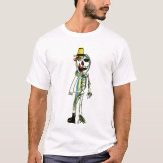 Camiseta T-shirt de esqueleto da planície do palhaço