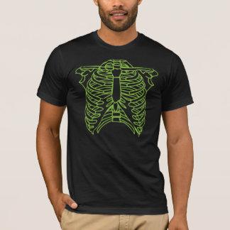 Camiseta T-shirt de esqueleto verde