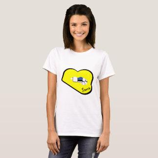 Camiseta T-shirt de Estónia dos lábios de Sharnia (lábios