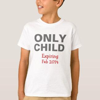 Camiseta T-shirt de expiração do filho único