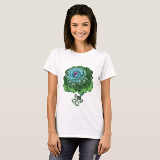 Camiseta T-shirt de florescência da couve