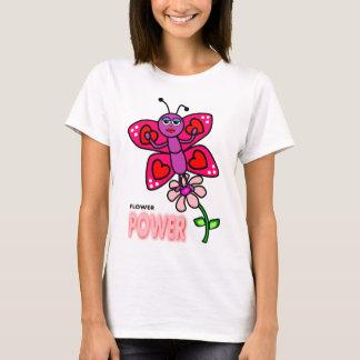Camiseta T-shirt de flower power