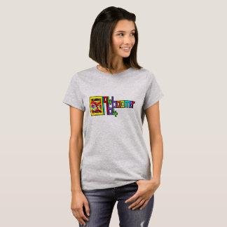 Camiseta T-shirt de flower power do FILHO DO BABY-BOOM