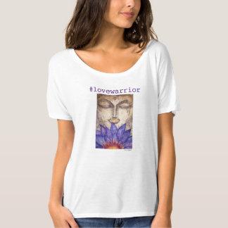 Camiseta T-shirt de Flowy da arte de Buddha do guerreiro do