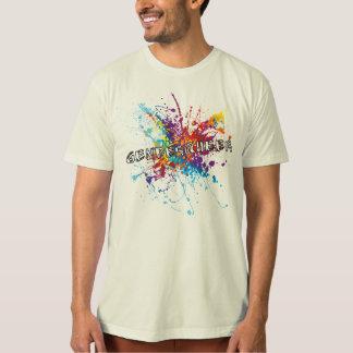 Camiseta T-shirt de Genderqueer do respingo da pintura do