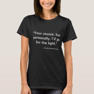 Camiseta T-shirt de GrimGirl das citações de Charley
