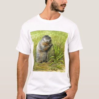Camiseta T-shirt de Groundhog (vista ascendente próxima)