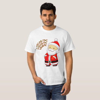 Camiseta T-shirt de Heaux Heaux Heaux do papai noel