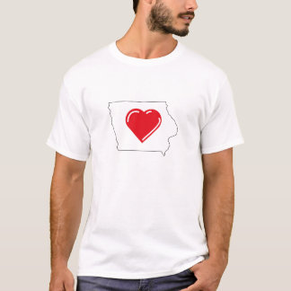 Camiseta T-shirt de Iowa do amor
