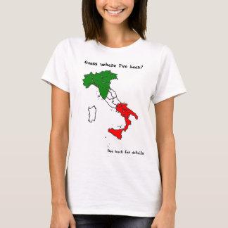Camiseta T-shirt de Italia do divertimento - edição branca