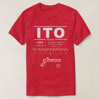 Camiseta T-shirt de ITO do aeroporto internacional de Hilo
