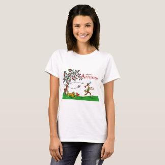 Camiseta T-shirt de Johnny Appleseed, animais e árvore de
