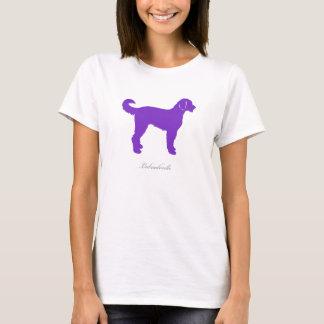 Camiseta T-shirt de Labradoodle (silhueta roxa)
