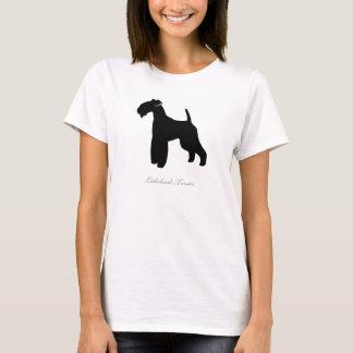 Camiseta T-shirt de Lakeland Terrier (silhueta preta)