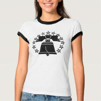 Camiseta T-shirt de Liberty Bell da campainha das senhoras