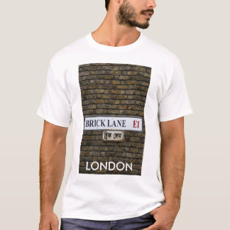 Camiseta T-shirt de Londres do sinal da pista E1 do tijolo