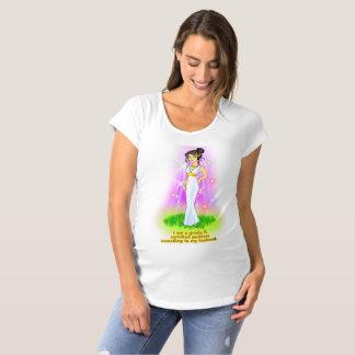 Camiseta T-shirt de maternidade da deusa (cabelo preto)