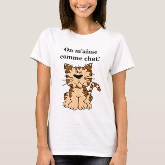 Camiseta T-shirt de me gosta-se como gato! (marcas à