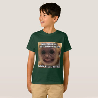 Camiseta T-shirt de Meme do macaco