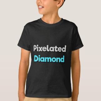 Camiseta T-shirt de Merch do diamante de Pixelated