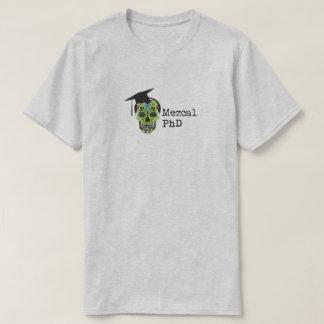 Camiseta T-shirt de Mezcal PhD na luz - cinza