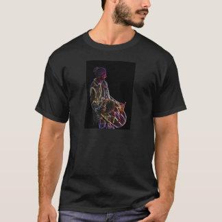 Camiseta T-shirt de néon do baterista de Dhol do fulgor
