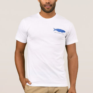 Camiseta T-shirt de néon flamejante do gráfico da anchova
