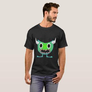 Camiseta T-shirt de néon Horned bonito do monstro