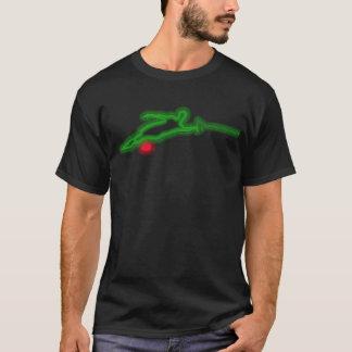 Camiseta T-shirt de néon verde do esquiador da água do