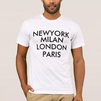 Camiseta T-shirt de Newyork Milão Londres Paris