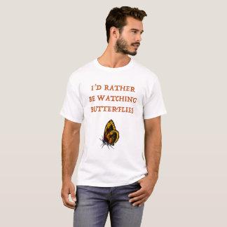 Camiseta T-shirt de observação das borboletas