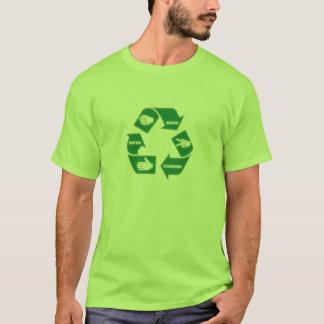 Camiseta T-shirt de papel do reciclar do ~ das tesouras da