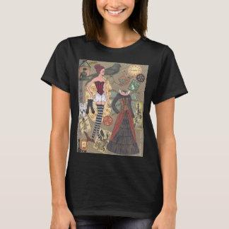 Camiseta T-shirt de papel irrisório da arte da boneca de