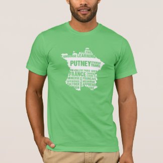 Camiseta T-shirt de Paris da Pre-Faculdade em cores