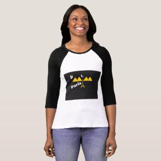 Camiseta T-shirt de Paris para mulheres 2017,