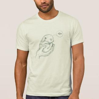 Camiseta T-shirt de pensamento da lontra