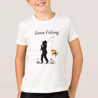 Camiseta T-shirt de pesca ido dos miúdos