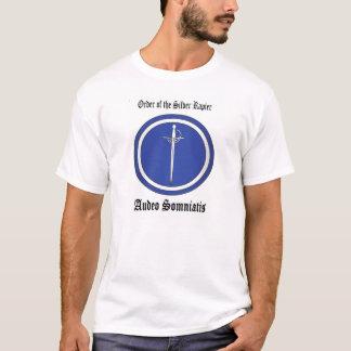 Camiseta T-shirt de prata do Rapier