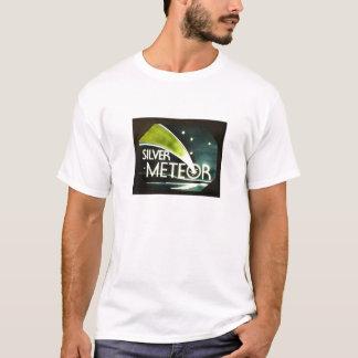 Camiseta T-shirt de prata do sinal da estrada de ferro do
