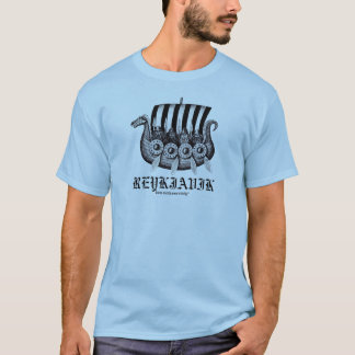 Camiseta T-shirt de Reykjavik Islândia com os viquingues em