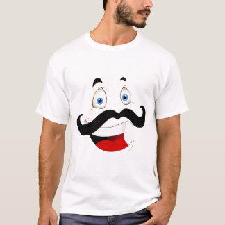 Camiseta T-shirt de riso da cara dos desenhos animados dos