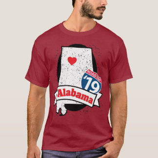 Camiseta T-shirt de Roadtrip Alabama '19 (carmesins)