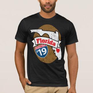 Camiseta T-shirt de Roadtrip Florida '19 (ouro)