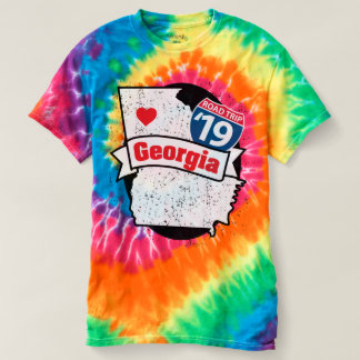 Camiseta T-shirt de Roadtrip Geórgia '19 (laço-tintura)