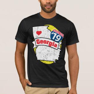 Camiseta T-shirt de Roadtrip Geórgia '19 (preto/amarelo)