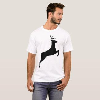 Camiseta T-shirt de salto da ilustração dos cervos