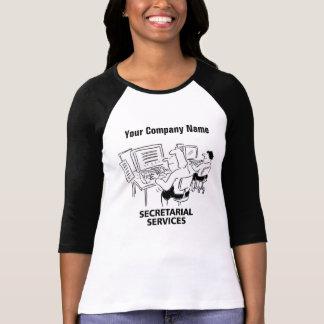 Camiseta T-shirt de secretário dos desenhos animados dos