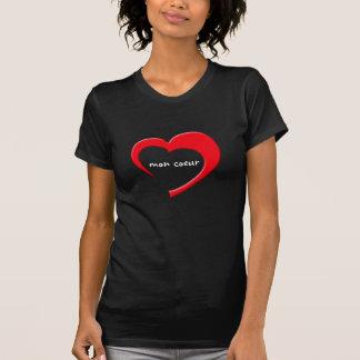 Camiseta T-shirt de segunda-feira Coeur II (vermelho na