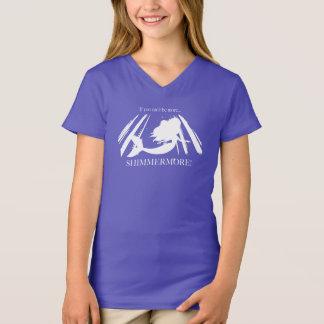 Camiseta T-shirt de Shimmermore da sereia da menina